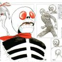Ishinomori's concept art for a TV version of the Skull Man
