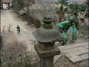 Hongo pursuing Mantis Man into his hideout