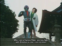 Hongo rescuing his childhood friend Chikako